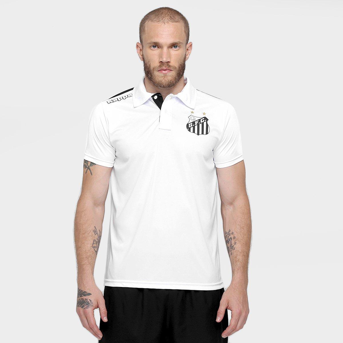 Camisa Polo Santos Kappa Comissão Técnica 2016 Masculina - Compre Agora  44ba6f0af44a4
