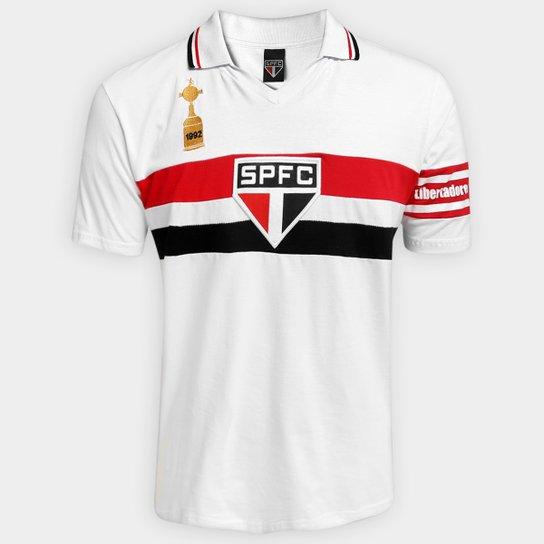 Camisa Polo São Paulo Capitães Libertadores 1992 Masculina - Branco