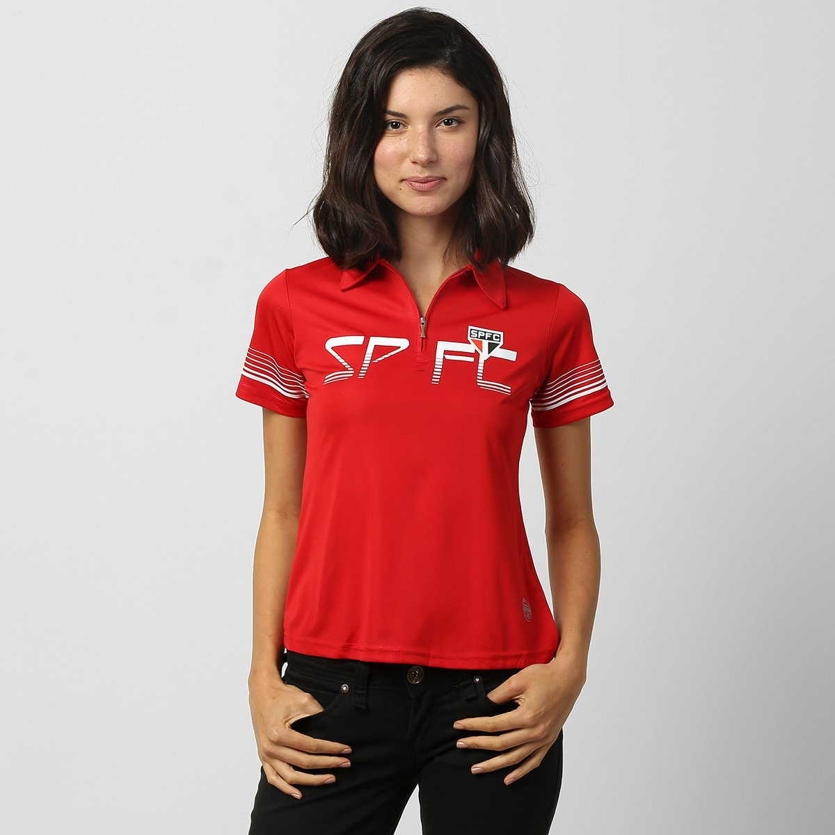 aec7836140 Camisa Polo São Paulo Feminina - Compre Agora