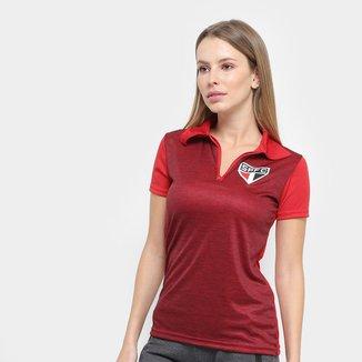 Camisa Polo São Paulo Mescla Feminina