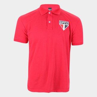 Camisa Polo São Paulo Piquet Masculina