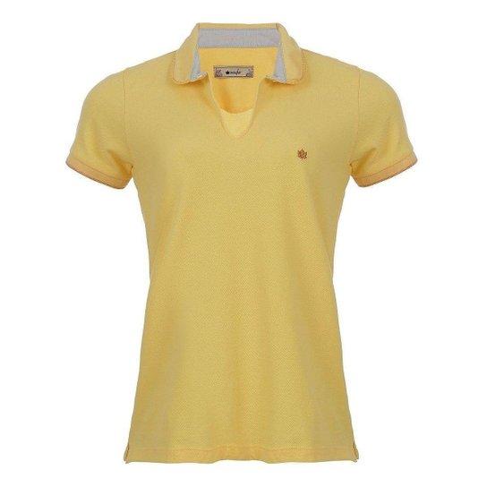Camisa Polo Seeder Feminina Piquet Amarela - Amarelo