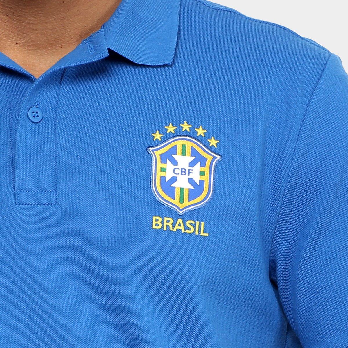 Camisa Polo Seleção Brasil 2018 Nike Masculina - Azul - Compre Agora ... 17d78127f5948