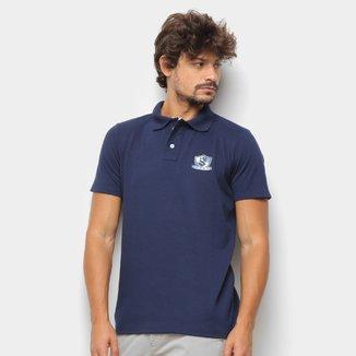 Camisa Polo Suburban Piquet Mini Logo Estilizado Masculina