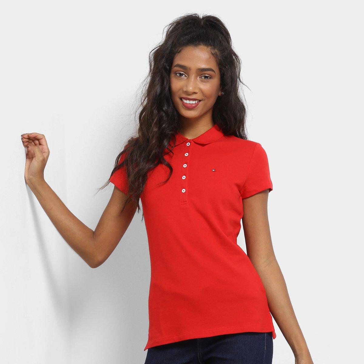 301fd34728 ... Camisa Polo Tommy Hilfiger Básica Feminina - Compre Agora Netshoes  646bc359714824  Camisa Polo Rosa ...