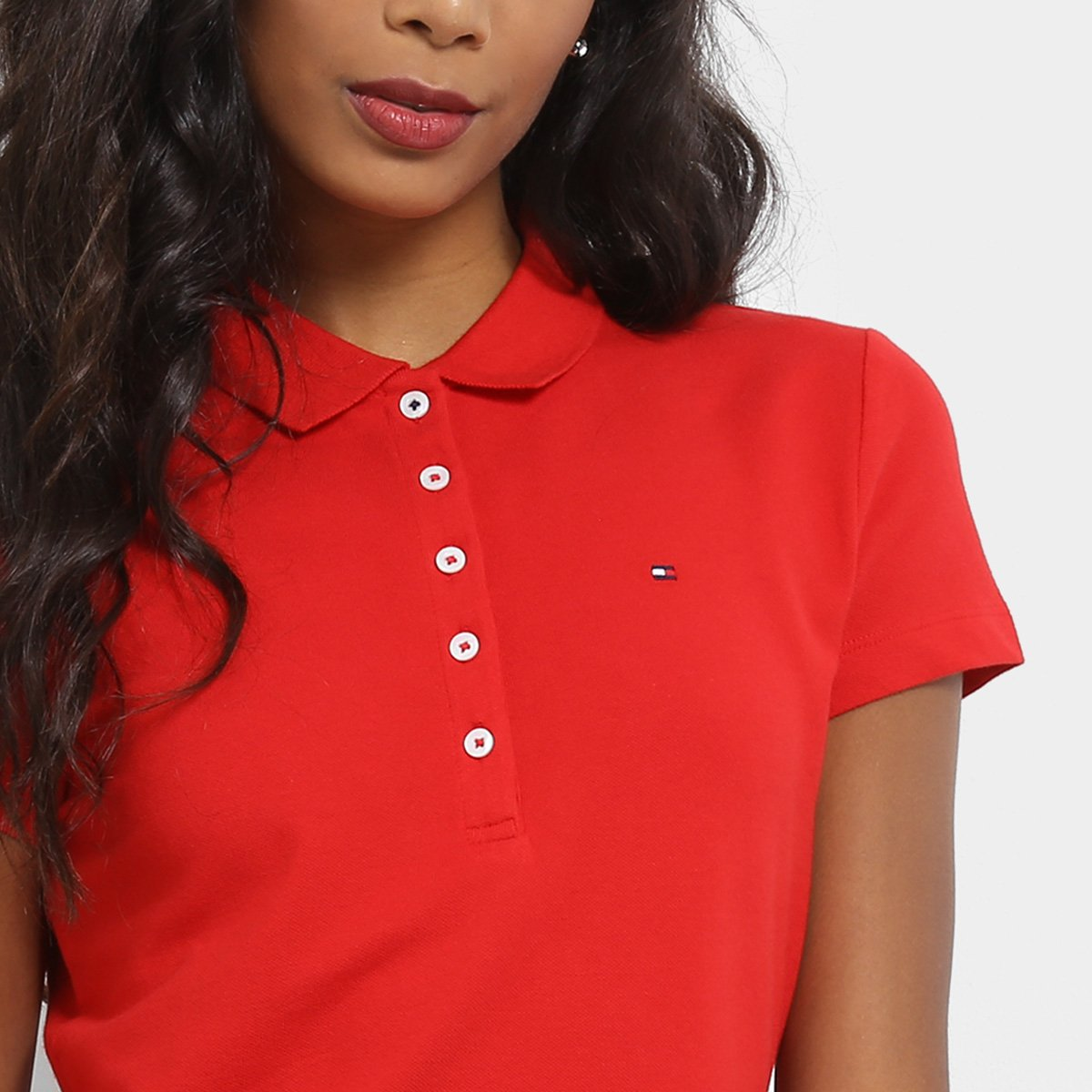 504e51f7db Camisa Polo Tommy Hilfiger Básica Feminina - Compre Agora