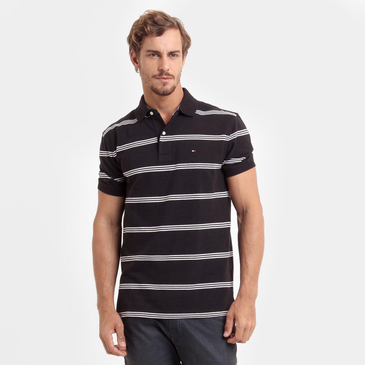 Camisa Polo Tommy Hilfiger Piquet Listras - Compre Agora  7945f1f632068