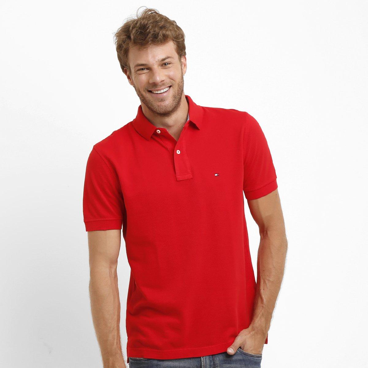 Camisa Polo Tommy Hilfiger Piquet Regular - Compre Agora  50e5b6c03dd71