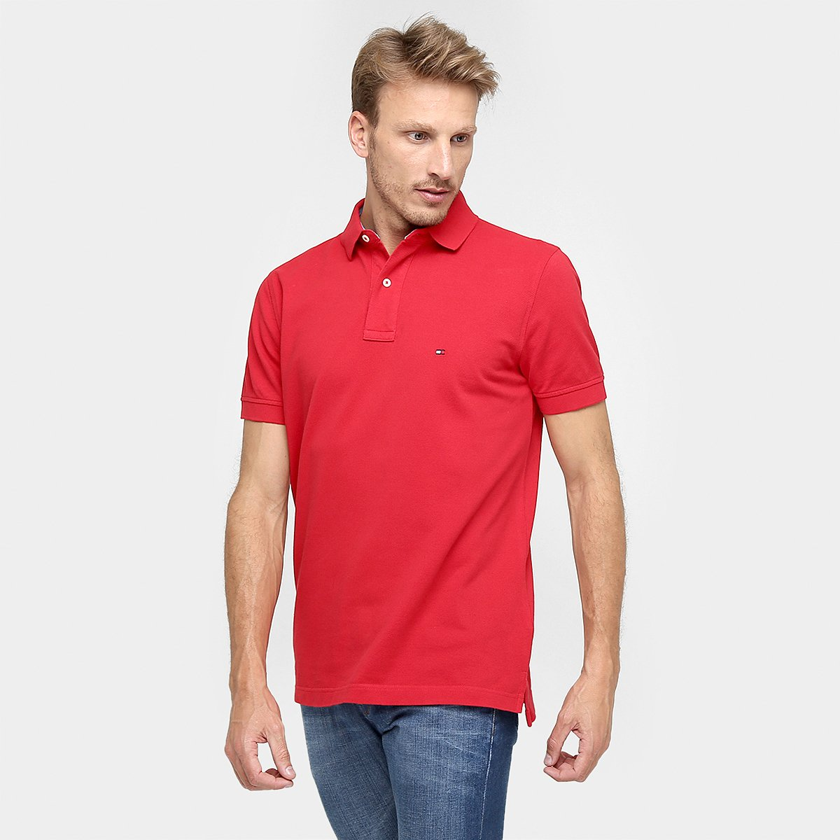 Camisa Polo Tommy Hilfiger Piquet Slim Fit Masculina - Compre Agora ... 57b7860f84823