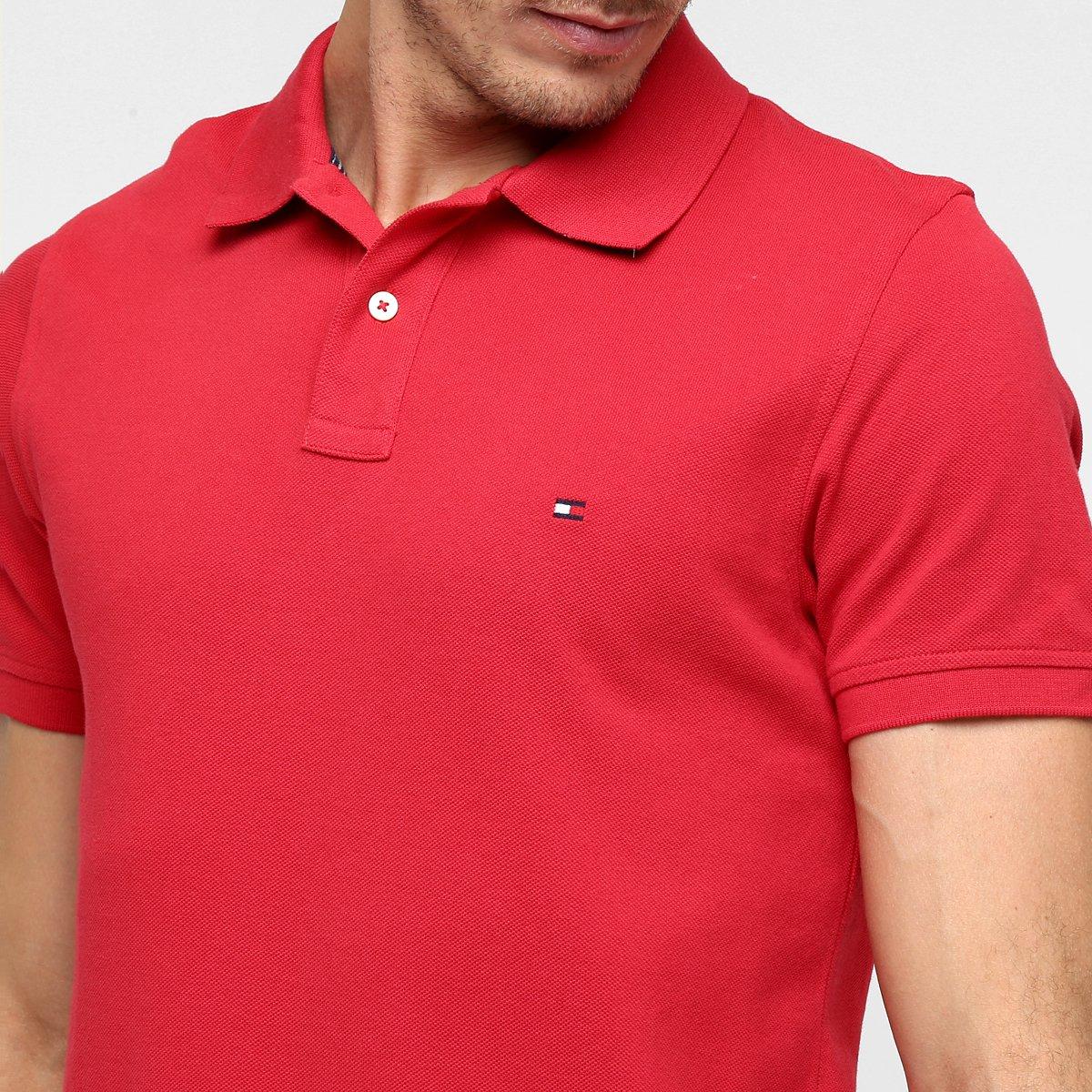 e8ceafdb4a Camisa Polo Tommy Hilfiger Piquet Slim - Compre Agora