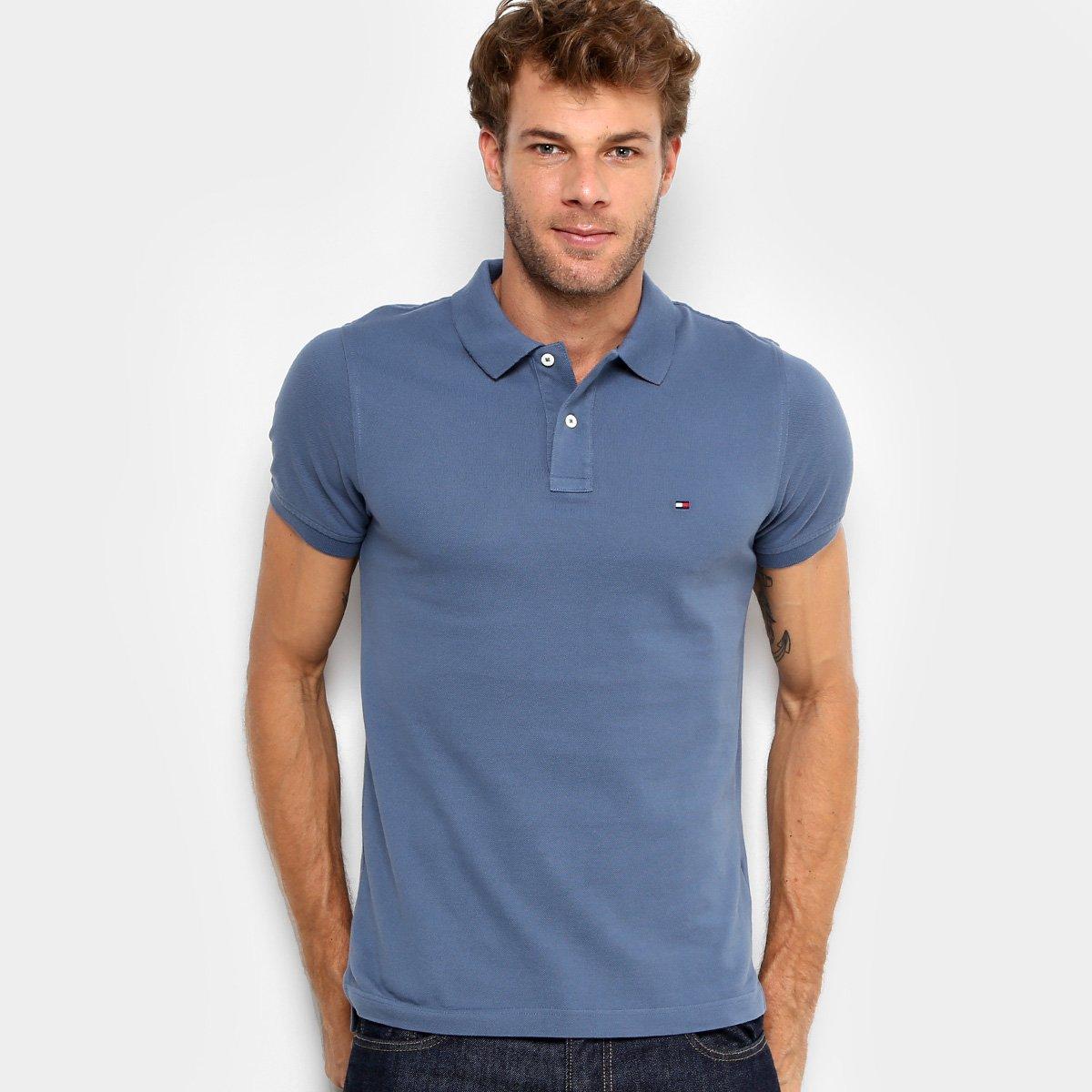 214277ac2d99d Camisa Polo Tommy Hilfiger Slim Fit Clássica Masculina - Compre Agora