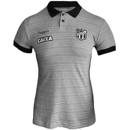 Camisa Polo Topper Ceará Viagem 2018 Feminina - Cinza