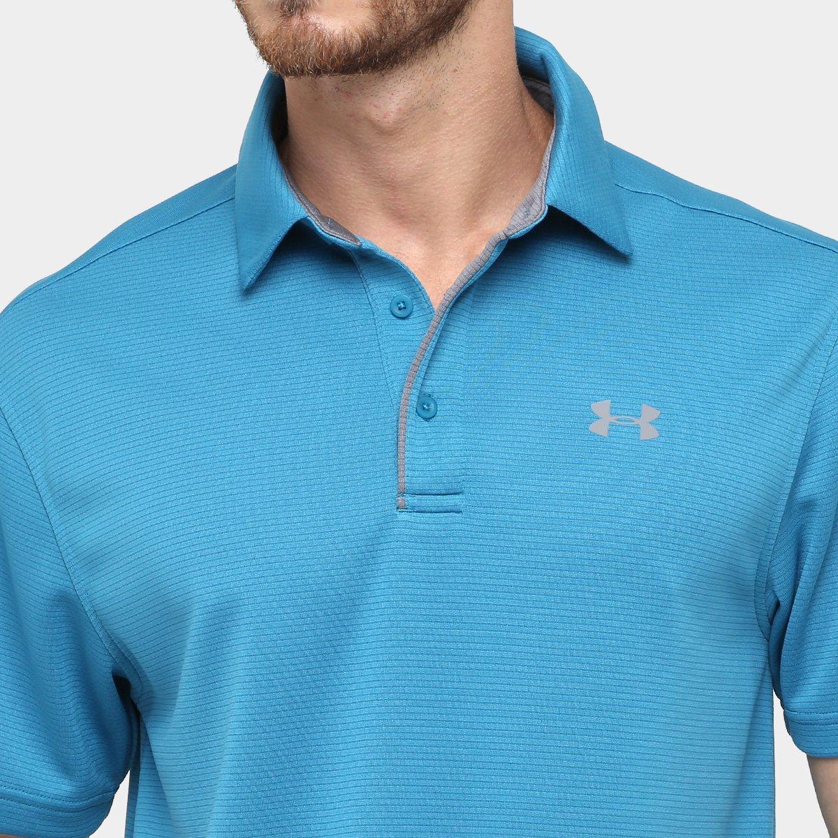 afa3ffc44f Camisa Polo Under Armour Tech Masculina - Azul e Cinza - Compre ...