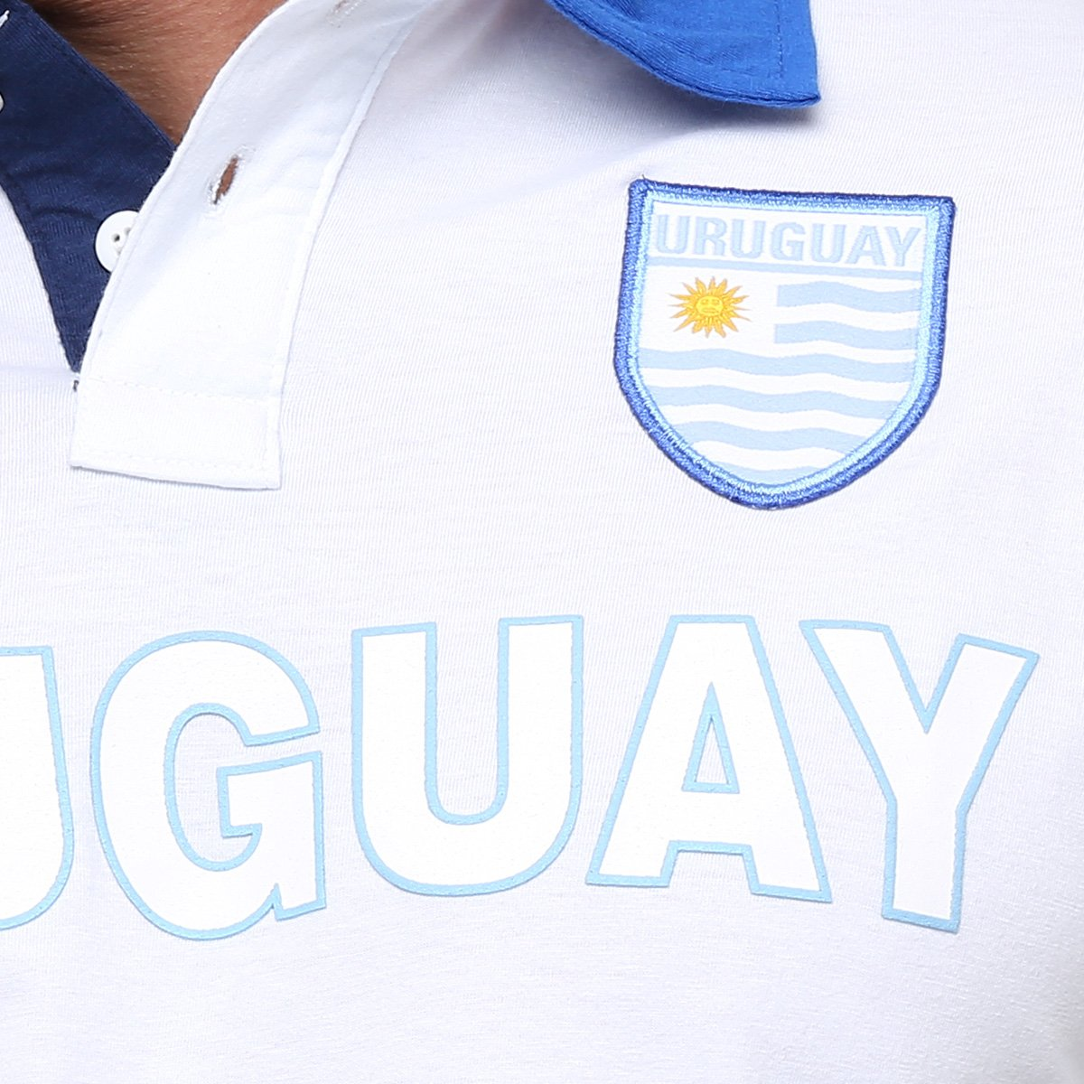 Camisa Polo Uruguai Kappa Bravas Masculina - Compre Agora  f0929a9d36281
