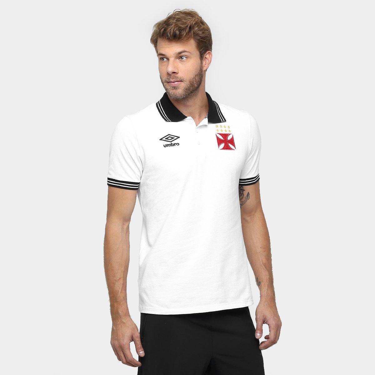 5c88318a23662 Camisa Polo Vasco Umbro Viagem 2016 Masculina - Compre Agora