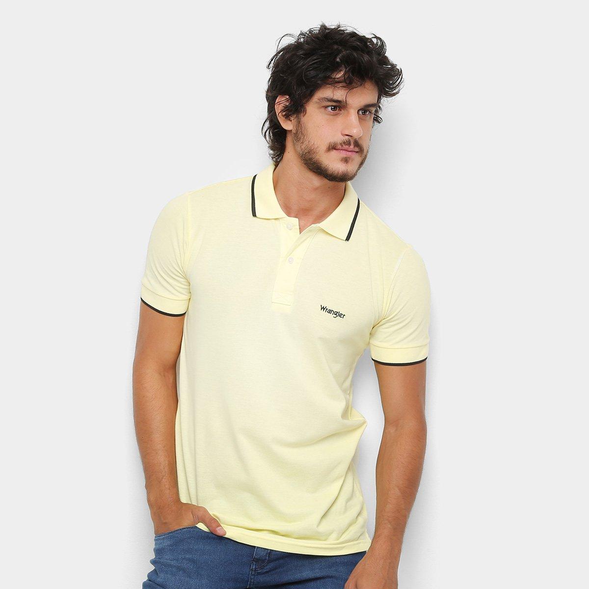 Camisa Polo Wrangler Friso Bordada Masculina - Amarelo - Compre ... ccaa648e57c67