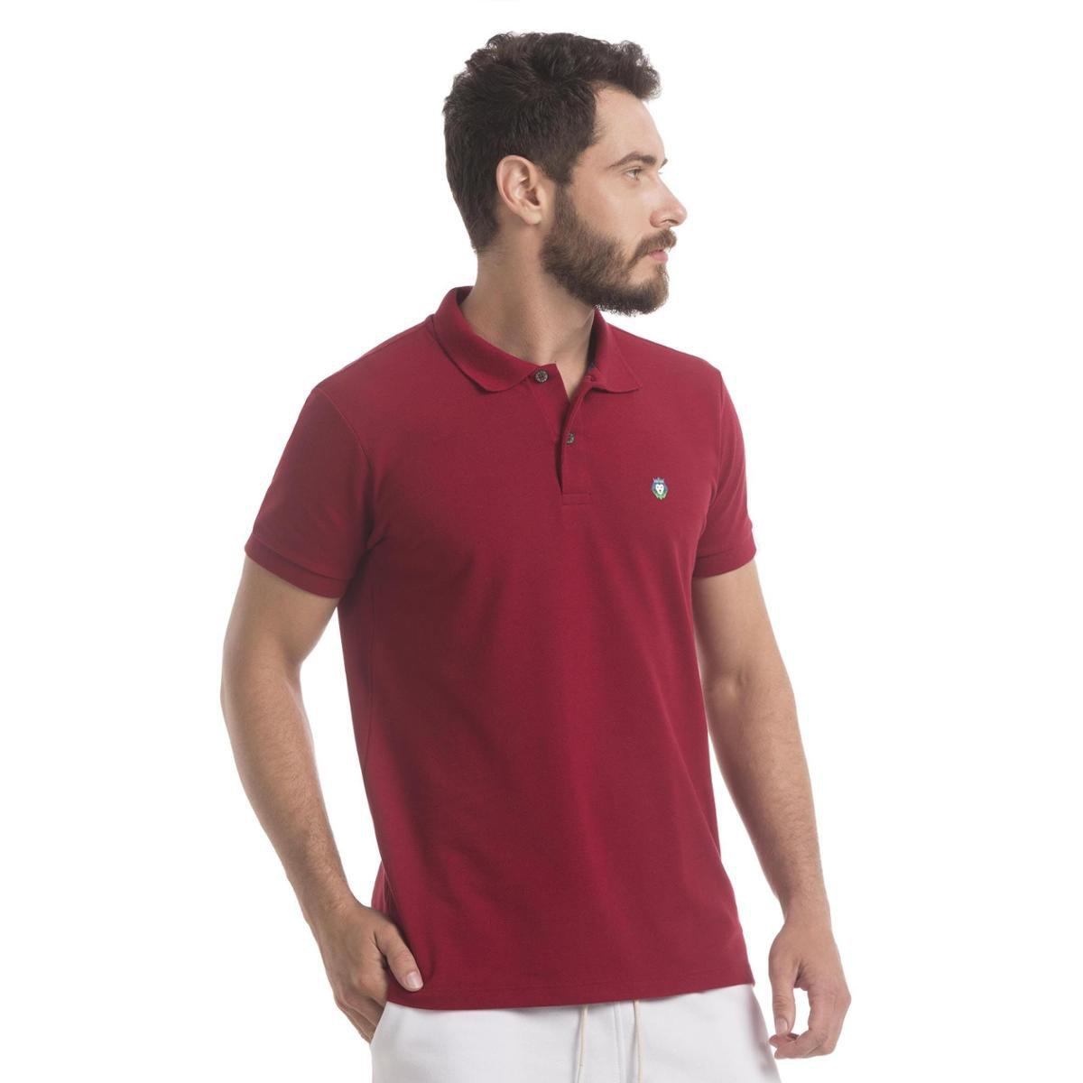 c35aa4b424 Camisa Polo Zaiden Store Piquet Zaiden Style S1 - Vermelho Escuro ...