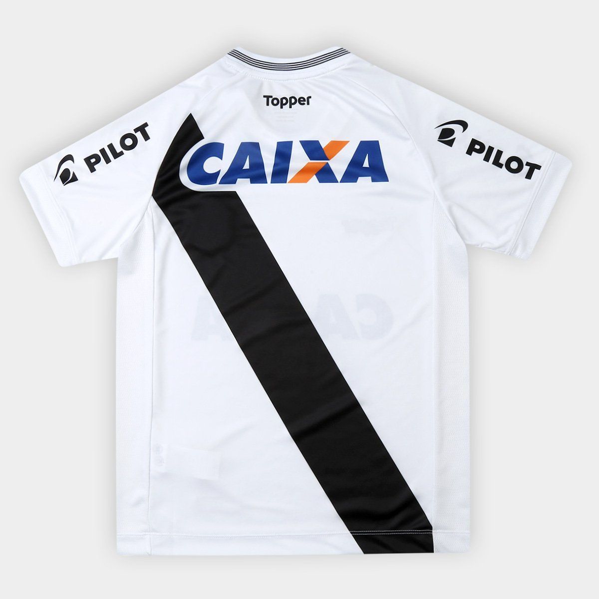 ... Camisa Ponte Preta Infantil I 2018 s n° - Torcedor Topper - Branco e . 5f56995139b38