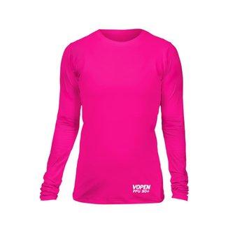 Camisa Proteção Solar Uv50 Feminina  Vopen Tecido Geladinho