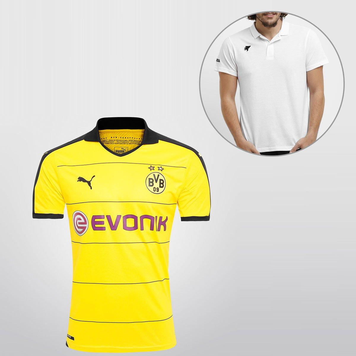 ab8745428f613 Camisa Puma Borussia Dortmund Home 15 16 s nº + Camisa Polo Joma - Compre  Agora
