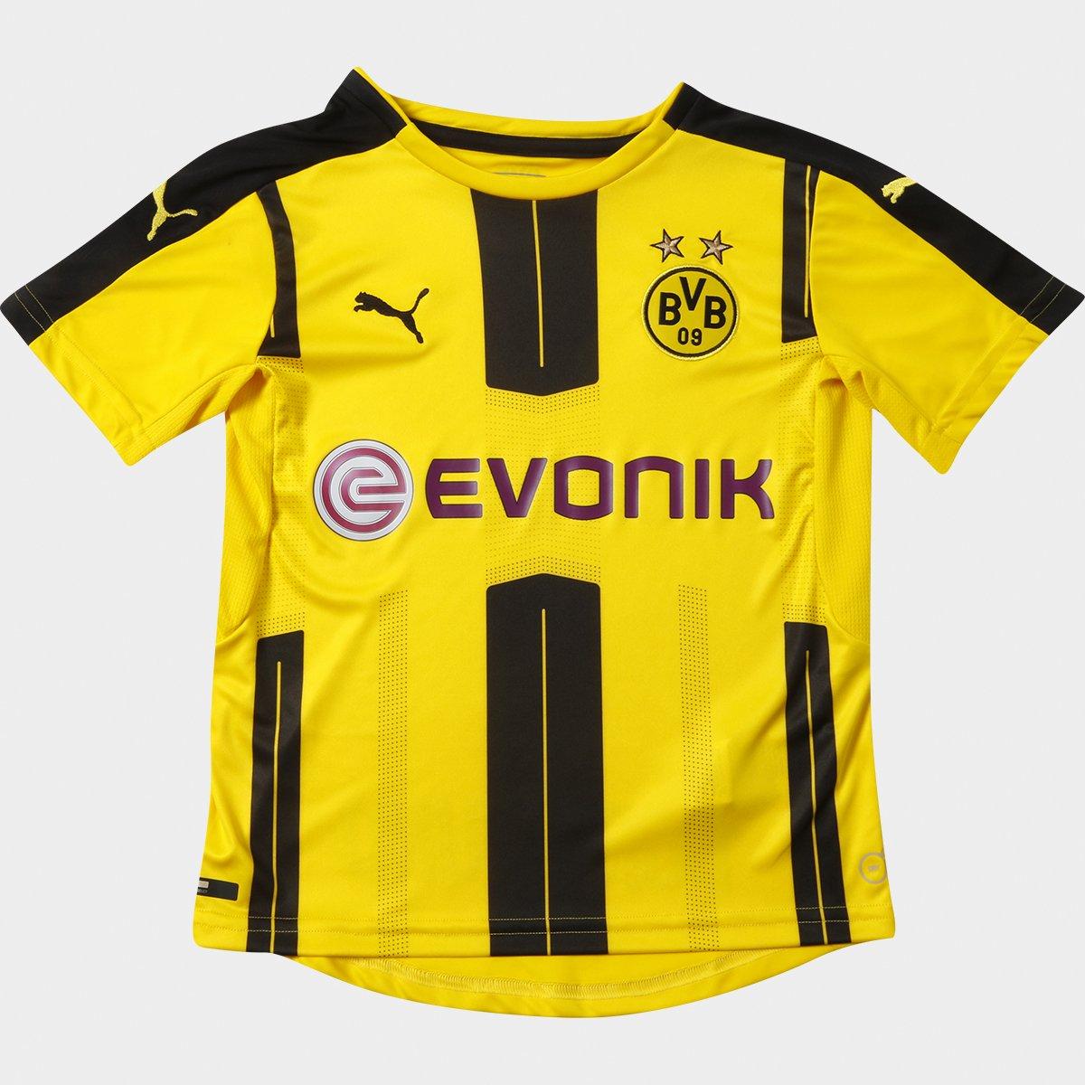 dcfcd490ba Camisa Puma Borussia Dortmund Home 16 17 s nº Infantil - Compre Agora