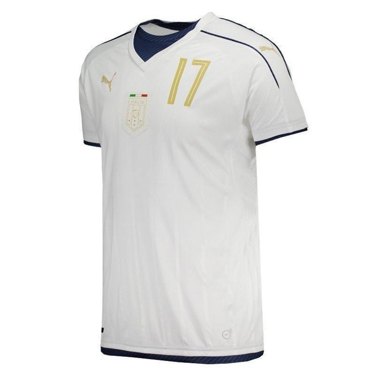 a1a44044e8 Camisa Puma Itália Away 2017 Tributo N°17 Eder Masculina - Branco ...
