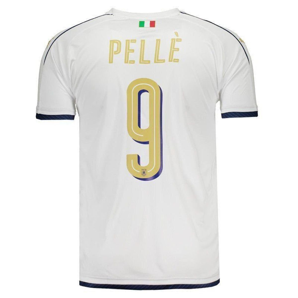 c8589cd46b Camisa Puma Itália Away 2017 Tributo N°9 Pellè Masculina - Branco ...