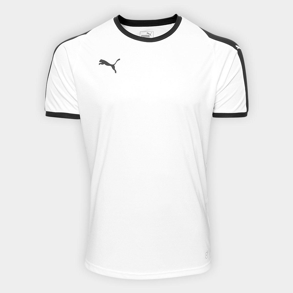 Camisa Puma Liga Jersey Masculina - Branco e Preto - Compre Agora ... acf63ffe1a80