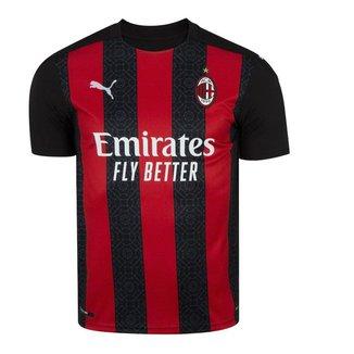 Camisa Puma Milan Home 2021 Juvenil - Vermelho