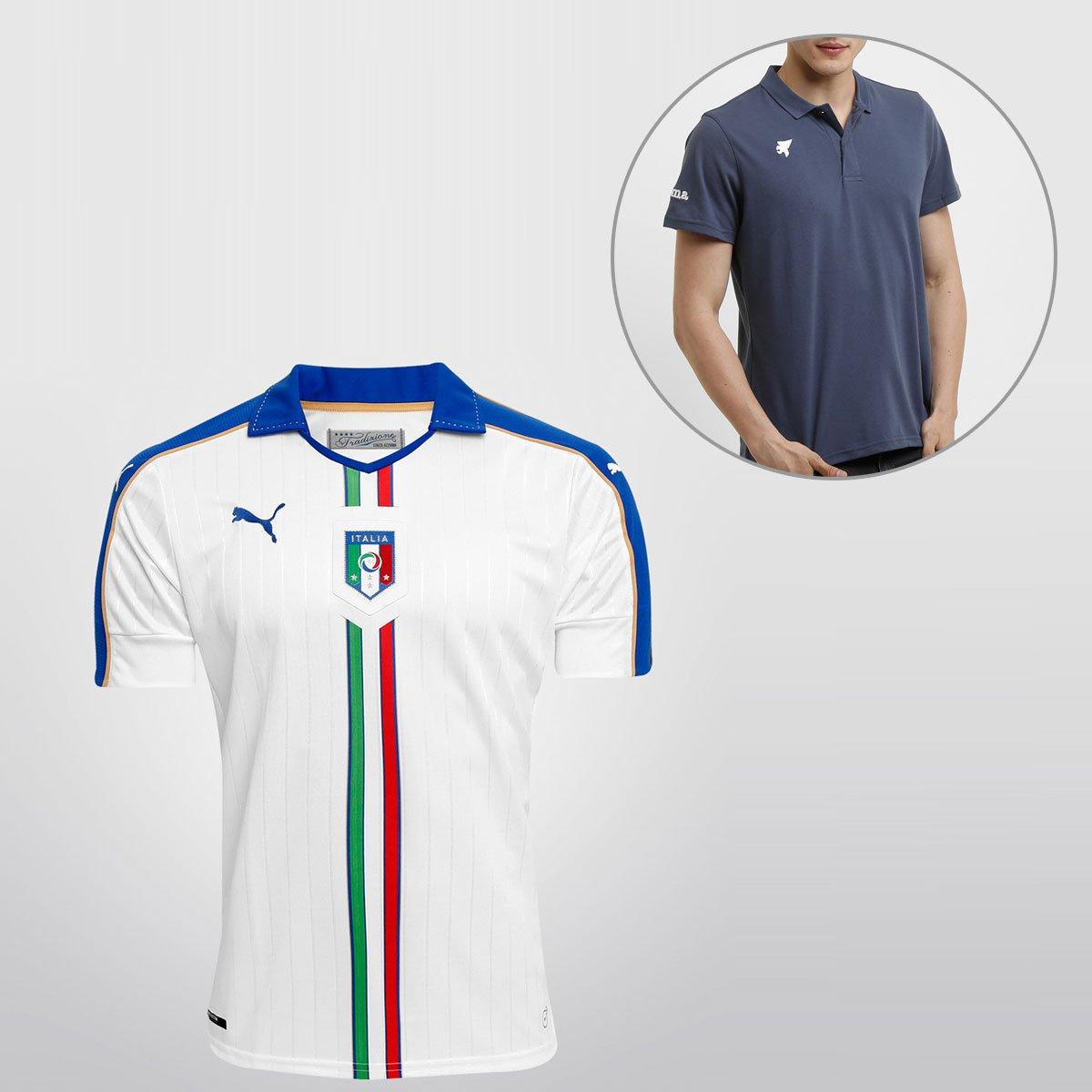 Camisa Puma Seleção Itália Away 15 16 s nº + Camisa Polo Joma - Compre Agora   71d37aa8635fa