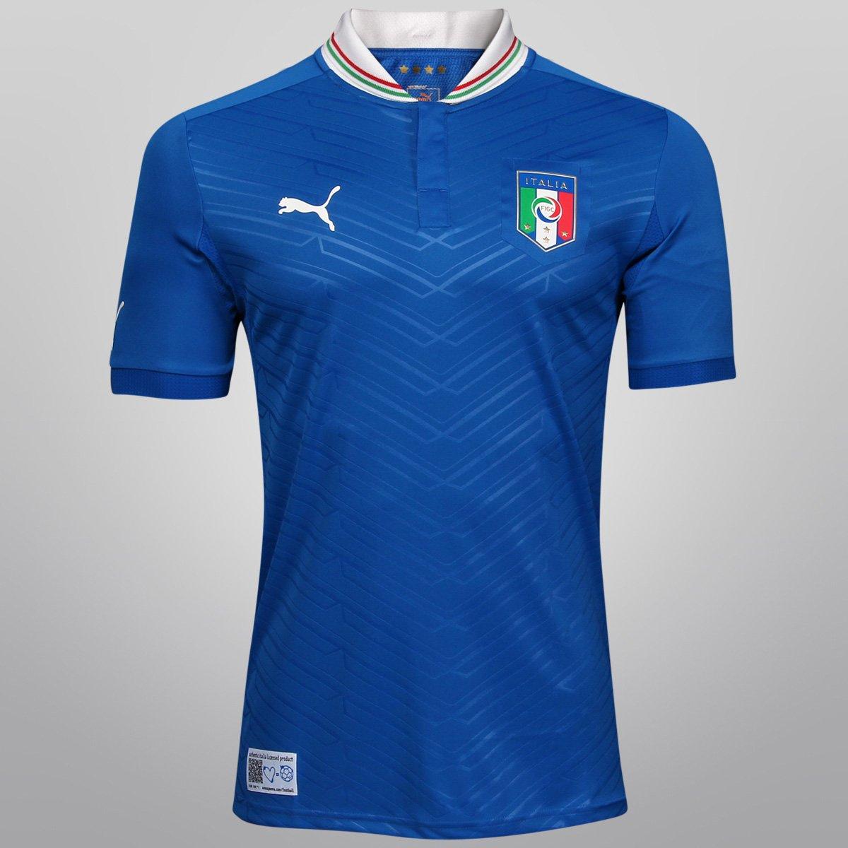 7641656484 Camisa Puma Seleção Itália Home 12 13 s nº - Compre Agora