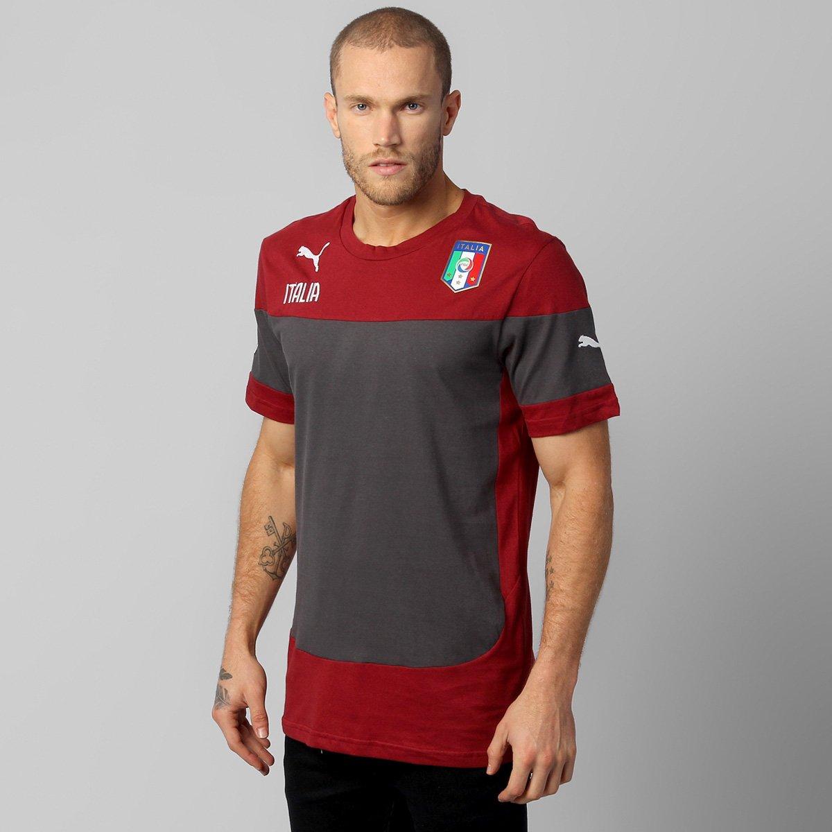 Camisa Puma Seleção Itália Viagem 2014 - Compre Agora  a81c699753224