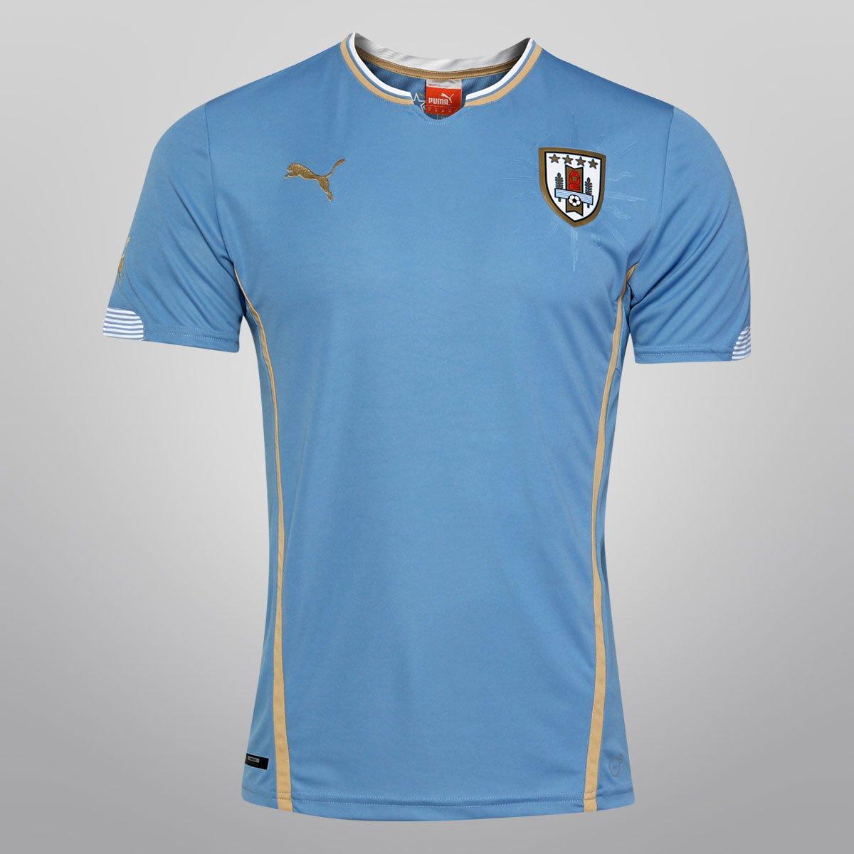7e6723a7cf Camisa Puma Seleção Uruguai Home 14 15 s nº - Compre Agora