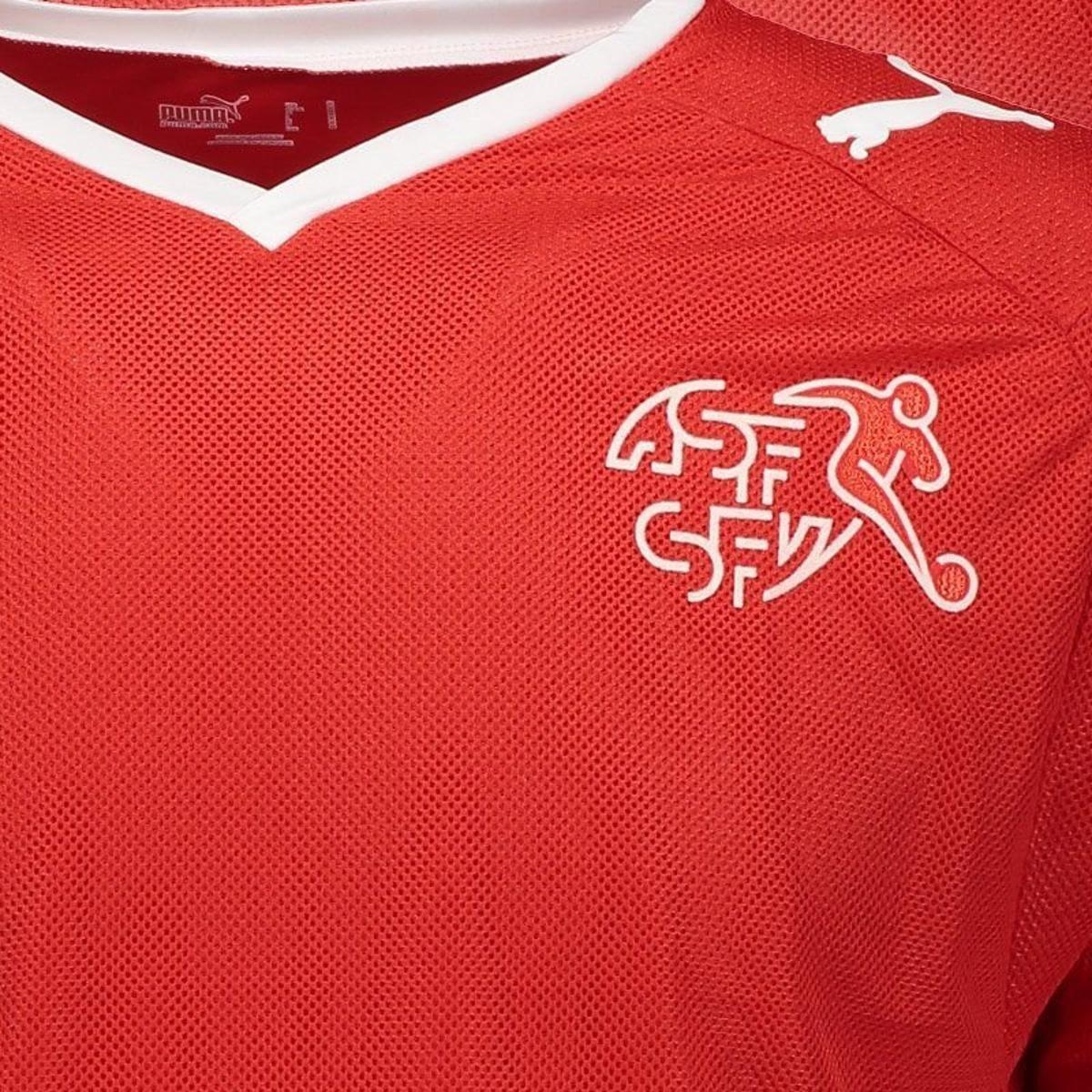 Camisa Puma Suíça Home 2010 Masculina - Vermelho - Compre Agora ... c72add55bf952
