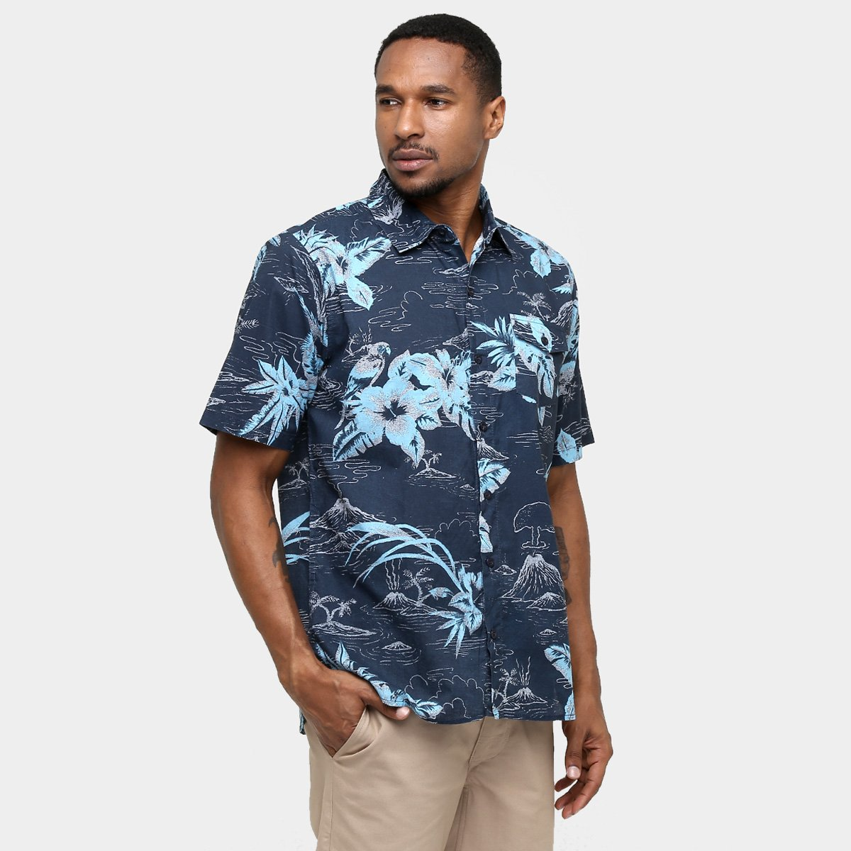 Camisa Quiksilver Parrot - Compre Agora   Netshoes c26b006809