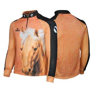 Camisa Quisty GG Elite Cavalgada Quarto de Milha Marrom