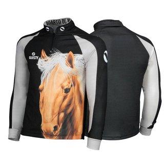 Camisa Quisty Infantil 10 Elite Cavalgada Quarto de Milha Preto