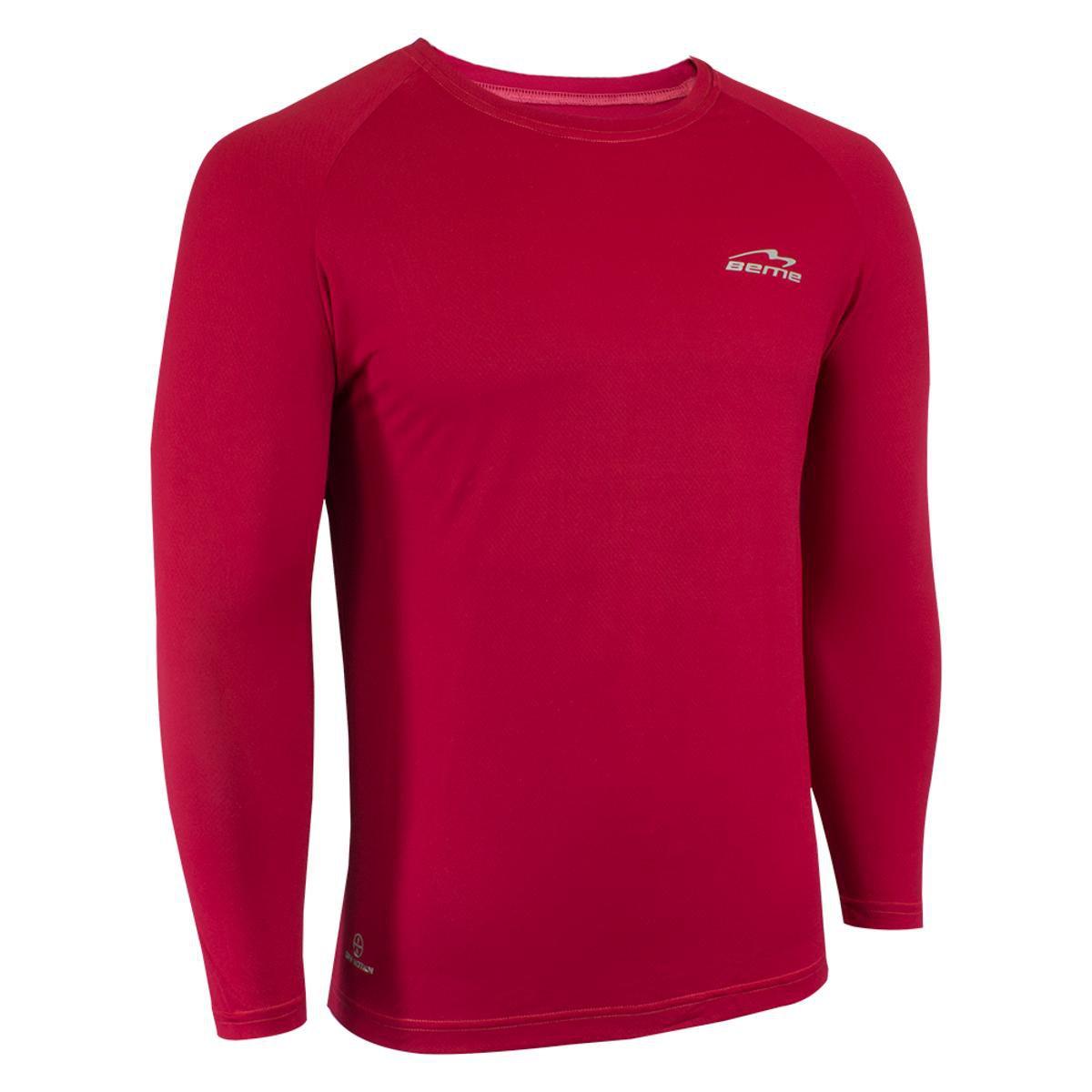 Camisa Raglã Poliamida Manga Longa Proteção Solar Masculina - Vermelho -  Compre Agora  729adb2987372