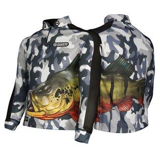 Camisa Raglan Tucunaré Antártida Pesca Esportiva DryUv50 GG
