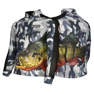 Camisa Raglan Tucunaré Antártida Pesca Esportiva DryUv50 Infantil 6
