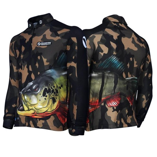 Camisa Raglan Tucunaré Savage Pesca Esportiva DryUv50 G - Verde