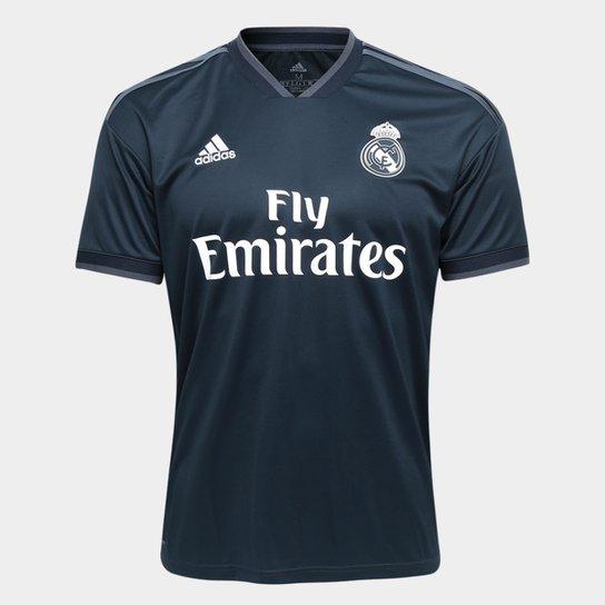 Camisa Real Madrid Away 2018 s/n° Torcedor Adidas Masculina - Azul Escuro
