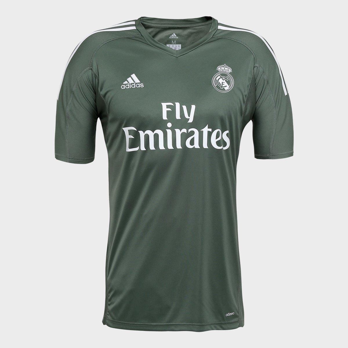 Camisa Real Madrid Goleiro 17 18 - Torcedor Adidas Masculina 75d3ee335a6f6