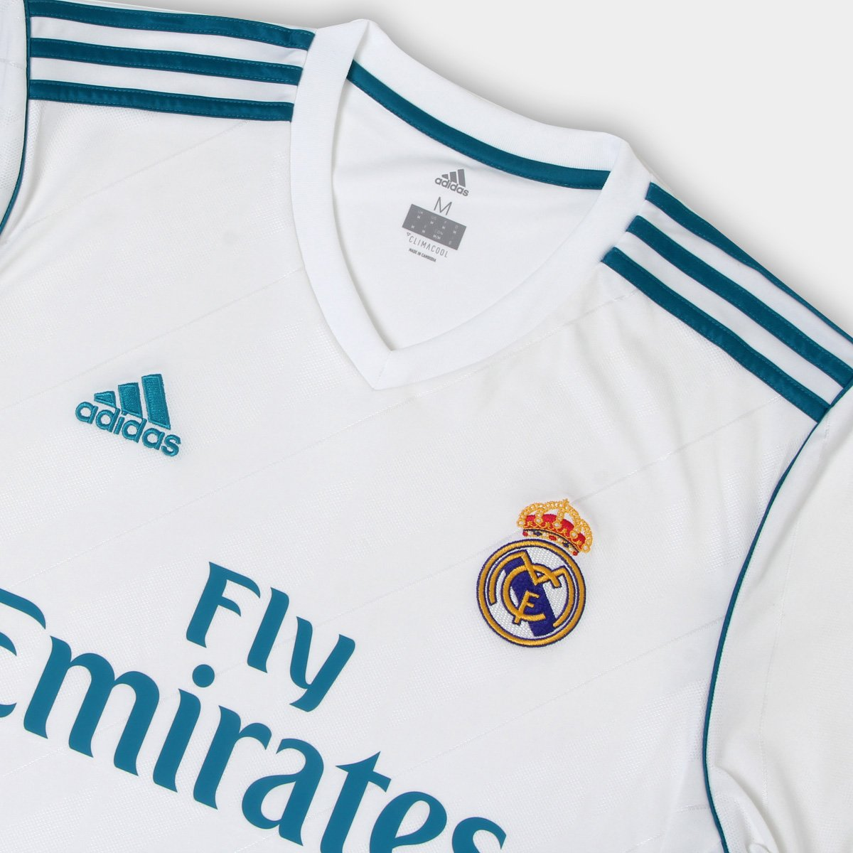 80ea35ebb5b7a1  Camisa Real Madrid Home 17 18 - Torcedor Adidas Masculina -  Branco e . 85853565a1771