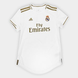 Camisa Real Madrid Home 19/20 s/nº Torcedor Adidas Feminina