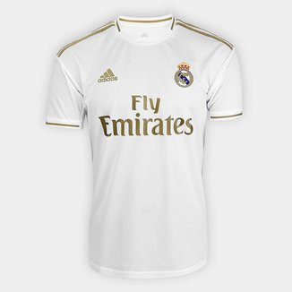 Camisa Real Madrid Home 19/20 s/n° Torcedor Adidas Masculina