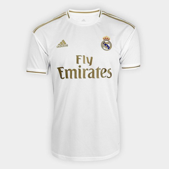 Menor preço em Camisa Real Madrid Home 19/20 s/n° Torcedor Adidas Masculina - Branco