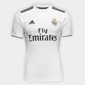 Camisa Real Madrid Home 2018 s/n° Torcedor Adidas Masculina