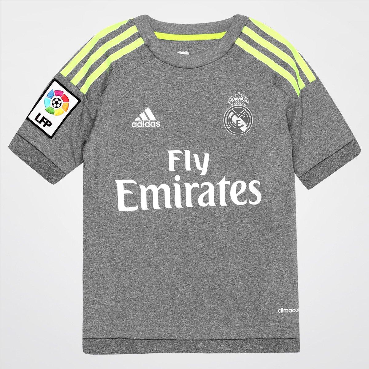 Camisa Real Madrid Infantil Away 15 16 s nº Torcedor Adidas - Compre Agora   e9953cc410f07