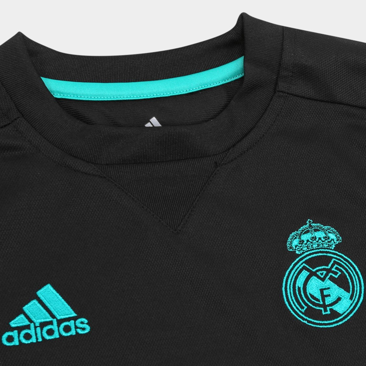s Infantil Camisa Real Torcedor Adidas nº Away Madrid 18 Preto 17 ESEZxPwY